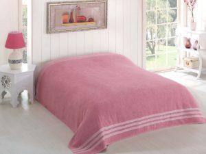 Простынь махровая     PETEK 200x220 см  Грязно-розовый