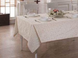Скатерть  жаккард LINEN cotton    160x220 см  V5