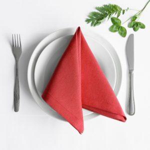 Комплект салфеток  Билли  38х38 см Красный