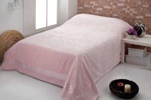Простынь c велюром  PUPILLA  OTTOMON 200x220 см  Розовый