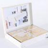 Скатерть  с органзой YASMIN 160x300 см  Капучино