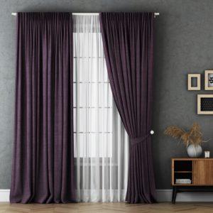 Комплект штор с подхватами Маркус 2х240х270 см Фиолетовый