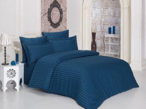 Постельное белье бамбук PERLA  Eвро Синий