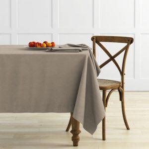 Комплект скатертей  Ибица  D145 см Бежево коричневый