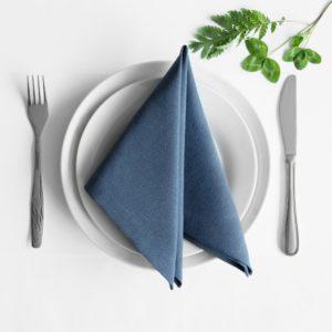 Комплект салфеток  Билли  38х38 см Синий