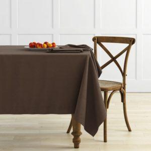 Комплект скатертей Ибица D145 см Шоколадный