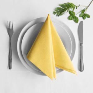 Комплект салфеток  Билли  38х38 см Желтый