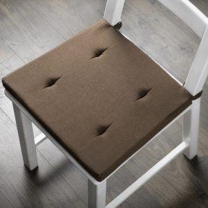 Комплект подушек для стула Билли 37х42 см Коричневый