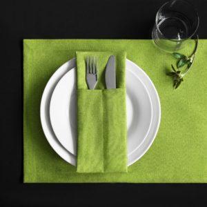 Комплект кувертов Ибица 10х24 см Зеленый