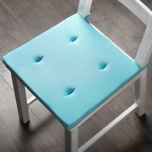 Комплект подушек для стула Билли 37х42 см Небесно Голубой