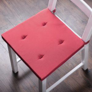 Комплект подушек для стула Билли 37х42 см Малиновый
