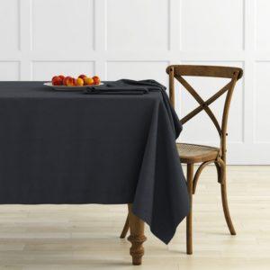 Комплект скатертей Ибица 145х195 см Темно-серый