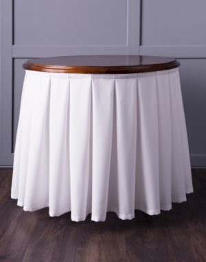 Комплект фуршетных юбок  Бакстер +  300х70 см Белый
