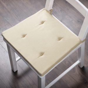 Комплект подушек для стула  Билли  37х42 см Кремовый