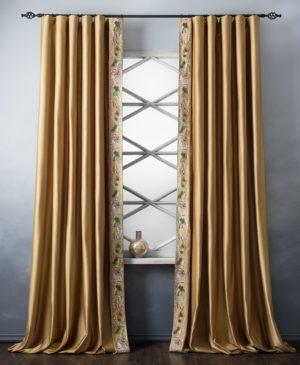 Комплект штор Шарлиз 2х200х280 см Золотой
