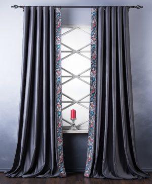 Комплект штор Шарлиз 2х200х280 см Серый
