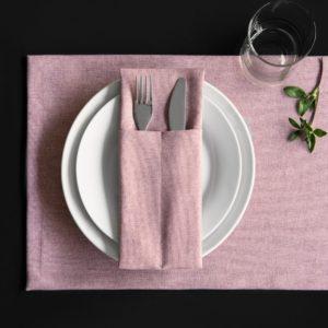 Комплект кувертов Ибица 10х24 см Розовый
