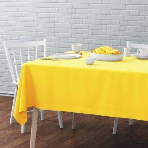 Скатерть  Билли D170 см Желтый