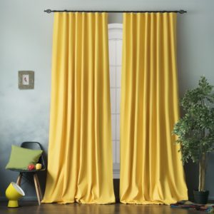 Комплект штор с подхватами  Билли  2х170х270 см Желтый