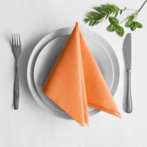 Комплект салфеток  Билли  38х38 см Оранжевый