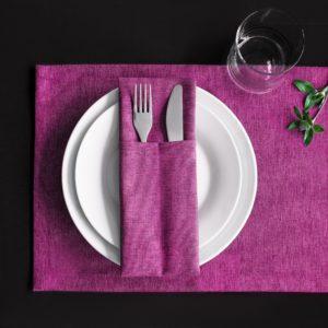 Комплект кувертов  Ибица  10х24 см Фиолетовый