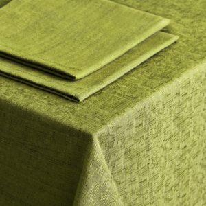 Комплект скатертей Леонардо D145 см Салатовый
