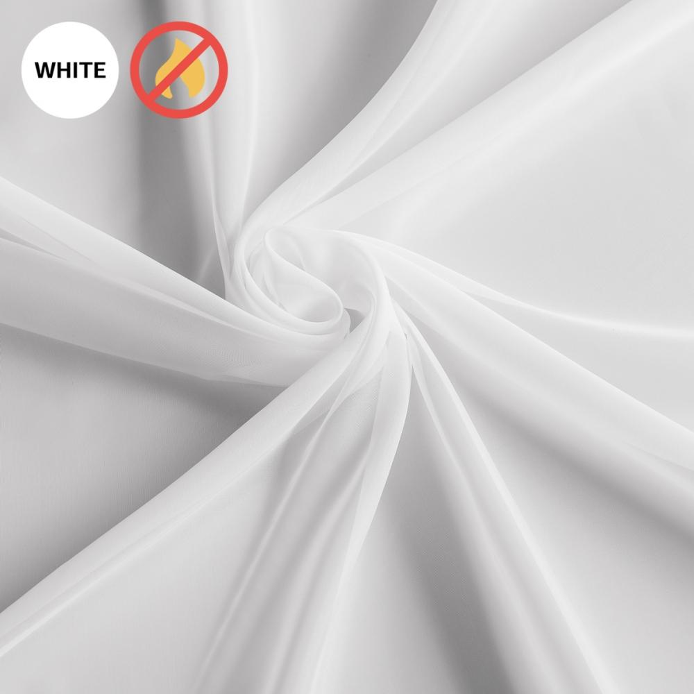 Негорючая портьера Левита + 100х280 см Белый