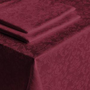 Скатерть  Донна 2 D145 см Бордовый