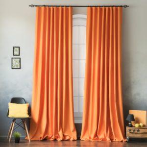 Комплект штор с подхватами Билли 2х170х270 см Оранжевый