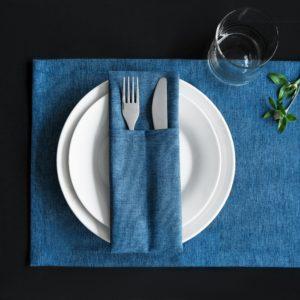 Комплект кувертов Ибица 10х24 см Синий