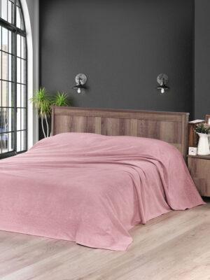 Простынь махровая Melen  200x220 см  Грязно-розовый