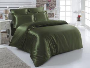 Постельное белье Arin шелк евро Зеленый
