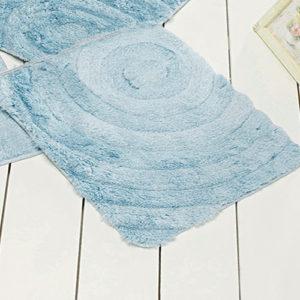 Коврик Castafiore Akril Wave светло-голубой 50*60 см