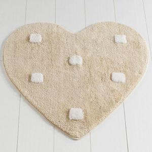 Коврик Castafiore Akril Pro forma Heart бежевый 90 диаметр
