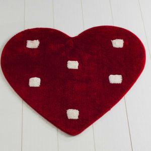 Коврик Castafiore Akril Pro forma Heart красный 90 диаметр