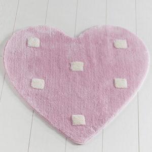 Коврик Castafiore Akril Pro forma Heart розовый 90 диаметр