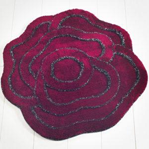 Коврик Castafiore Akril Pro forma Rose бордо 90 диаметр