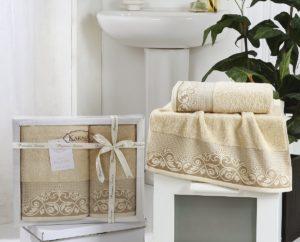 Комплект махровых полотенец BEYZA Бежевый