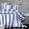 Постельное белье  KARNA  трикотажное 1,5 сп. MELAN голубой