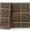 Набор махровых полотенец Куб коричневый