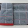 Набор махровых полотенец Квадрат Серый