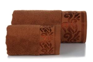 Махровое полотенце Люси коричневый