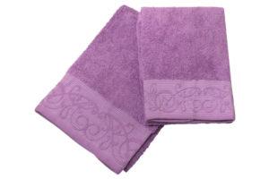 Махровое полотенце Музыка фиолетовый