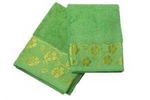 Махровое полотенце Флора зеленый
