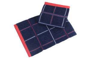 Махровое полотенце Квадрат синий
