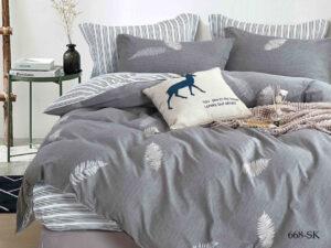 Комплект постельного белья сатин набивной Cleo Satin de' Luxe дуэт 41/668-SK