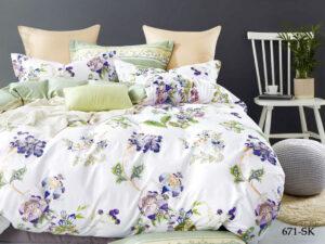 Комплект постельного белья сатин набивной Cleo Satin de' Luxe дуэт 41/671-SK