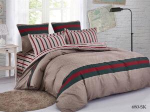 Комплект постельного белья сатин набивной Cleo Satin de' Luxe дуэт 41/680-SK
