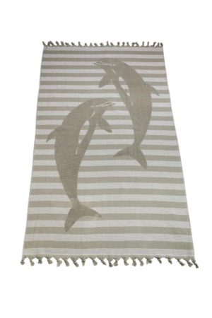 Полотенце СПА Дельфин серый арт. 54572