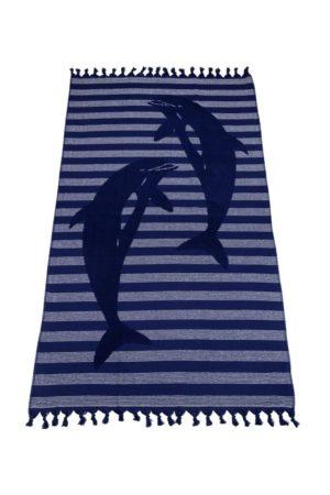 Полотенце СПА Дельфин синий арт. 54565